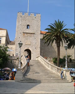 korcula main city gate