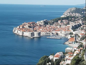 dubrovnik view from east